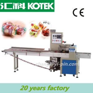 Down Paper Inverted Flow Food Package Equipment Bottom Seal Horizontal Three Side Sealing Machine pictures & photos