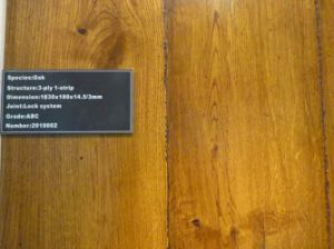 125X18mm UV Handscraped Oak Engineered Wood Flooring pictures & photos