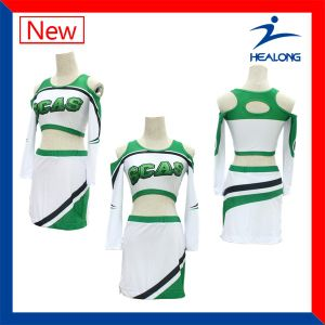 Healong Printed Long Sleeve Women Clothes Dresses Cheerleading Uniforms pictures & photos