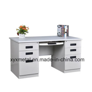 Hot Sale Double Side Drawers Steel Office Desk From China pictures & photos