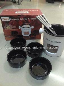 Ceramic Fondue Set Keramik Schoko Fondue pictures & photos