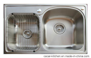 Cacar Stainless Steel Kitchen Sink with Wire Mesh (SC8451A) pictures & photos