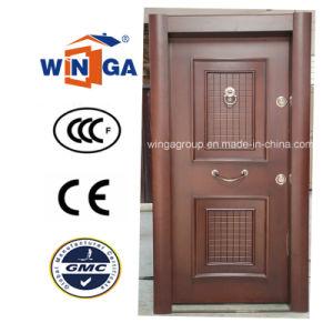 Turkey Luxury Security Steel MDF Wood Veneer Armored Door (W-T33) pictures & photos