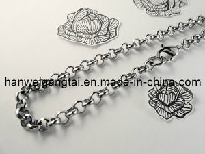 2013 New Design Stainless Steel Chain Necklace. 4mm Rolo Chain pictures & photos