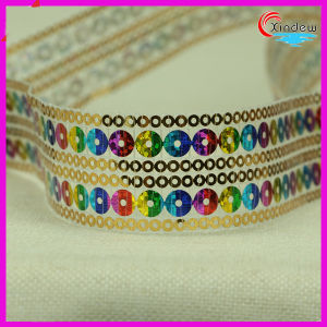 3cm colorful Shinning Sequin Trimming pictures & photos