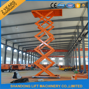 2017 New Design Hydraulic Electric Warehouse Cargo Scissor Lift Table pictures & photos