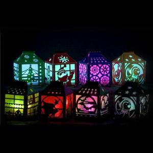 PVC Diecut or Laser Halloween House Decorative LED Night Light