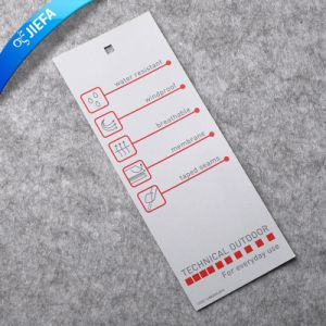 Custom Made Garment Hangtag with Eyelet and String pictures & photos