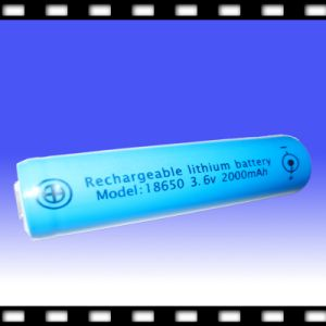 Chargeable Li Ion Polymer Battery Cell 3.6V 2000mAh (18650)