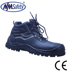 Nmsafety Cow Leather Slip and Oil Resistant Work Shoes pictures & photos