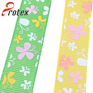 Yama Ribbon 3/8 Inch 9mm Butterfly Cheap Printed Grosgrain Ribbon pictures & photos