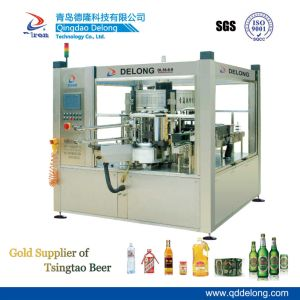 Dl12-6-4 Full Automatic Rotary Wide Label Cold Glue Labeling Machine