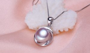 10-10.5mm Bread Round 3 Colors Fashion 925 Silver White Freshwater Pearl Pendant pictures & photos