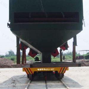 Electric Flat Car with Heavy Loading Running on Steel Rail pictures & photos