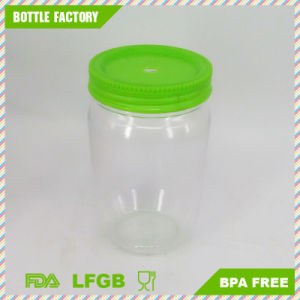 BPA Free Plastic Single Wall Mason Jar with Straw pictures & photos