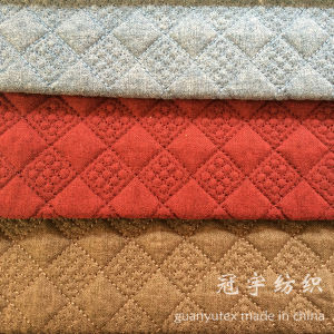 Quilting Twine Grid Pattern Home Textile Polyester Fabrics for Sofa pictures & photos