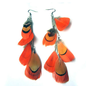 Hot Sale New Style Feather Drop Earring pictures & photos