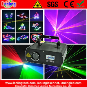 SD Card 1W RGB Grogrammable Animation Laser Projector with Laser Design Software pictures & photos