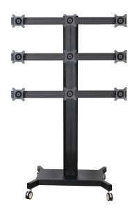 "Public TV Floor Stand Wheelbase 9-Monitor 10-24"" (AVD 009F) pictures & photos"