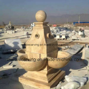 White Marble Stone Carving Water Fountain (NS-247) pictures & photos