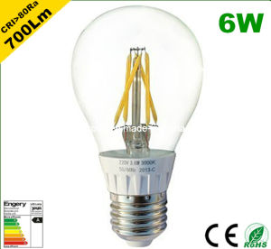 A60 E27 6W LED Bulb to Replace 60W Incandescent Bulb pictures & photos