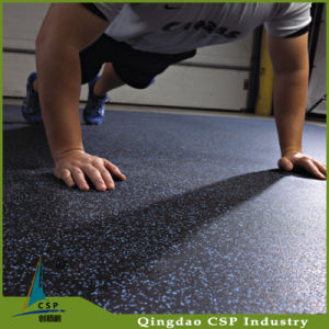 Non-Slip Popular Fitness Indoor Use Rubber Floor Gym Mats pictures & photos