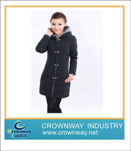 New Design Winter Lady Down Coat with Hooded pictures & photos