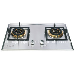 2 Burner #120*#120 Stainless Steel Panel Gas Stove pictures & photos