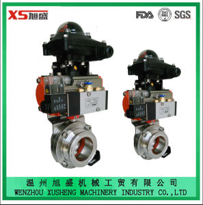 Stainless Steel Sanitary Actuator and Positioner 3PCS Ball Valve pictures & photos