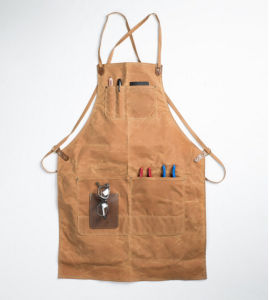 Custom Waxed Canvas Apron Utility Apron for Garden and Work pictures & photos