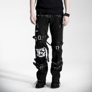 Used Gothic Punk Rave Unisex Long Pants (K-058) pictures & photos