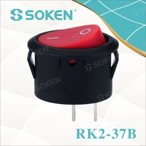 Oval Rocker Switch Rk2-37b pictures & photos