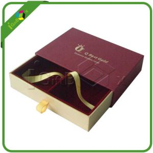 Paper Drawer Box with Divider / Ribbon pictures & photos