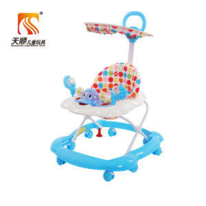 China Simple Plastic Baby Walker with Canopy pictures & photos