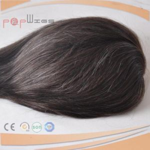 Base Color Black Mixed Grey Color 100% Human Hair Pieces pictures & photos