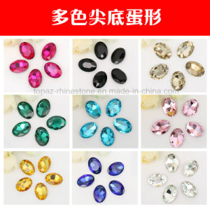 Navette Glass Beads Point Back Crystal Beads in Colors (PB-Navette) pictures & photos