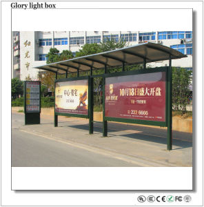 Advertising Scrolling Light Box Bus Stop Shelter pictures & photos