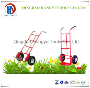 Two Wheels Iron Trolley for Warehouse and Storage (HT1830) pictures & photos