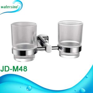 Wall Mounted Brass Bathroom Fittings Double Wash Cup Toothbrush Tumbler Holder pictures & photos