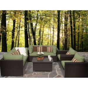 Well Furnir Rattan 7 Piece Deep Seating Group with Cushion pictures & photos