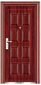 Top Quality Economic Single Steel Doors (EF-S023) pictures & photos