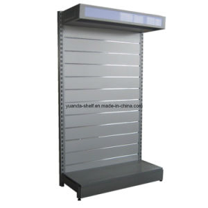 Single Sided Supermarket Metal Shelf with Top Light Box (YD-X1) pictures & photos