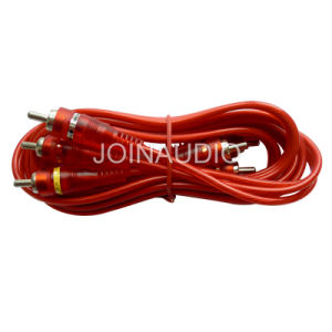 Audio Cable RCA Cable 3RCA to 3RCA Male (3R-3R RED) pictures & photos