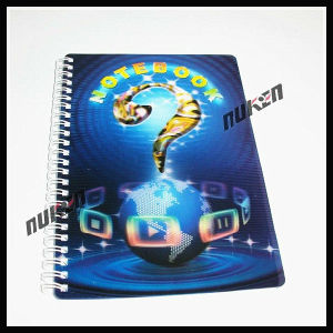 2015 Simple Spiral Binding 3D Notebook for School pictures & photos