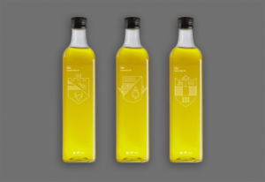 Oblong Shape Olive Oil Glass Bottle pictures & photos