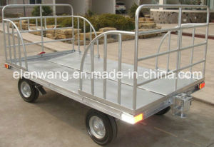 Two Rails Cargo Trailer Baggage Carts V Shape Floor pictures & photos