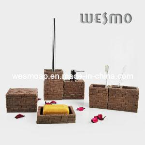 Blocks Polyresin Bathroom Set (WBP0233B) pictures & photos