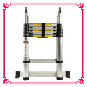 CE/En131 Bouble Aluminum Telescopic Household Ladder/Double Straight Ladder pictures & photos
