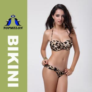 Topmelon Newest Women′s Push up Padded Bar Swimwear Bikini T86D