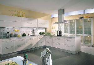 White High Gloss UV Kitchen Cabinet